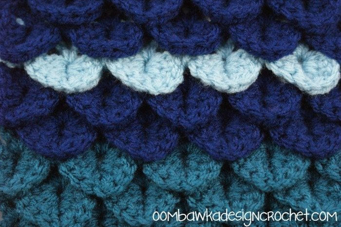 Crochet Crocodile Stitch : Crocodile Stitch Tutorial @OombawkaDesign