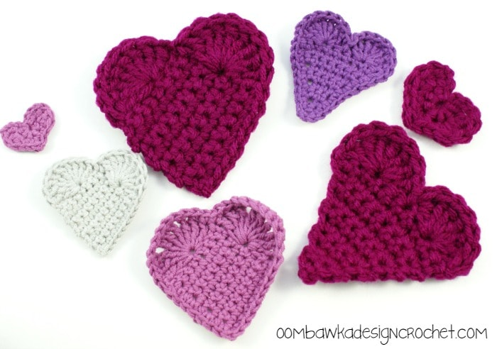 Hearts 3 Ways @OombawkaDesign