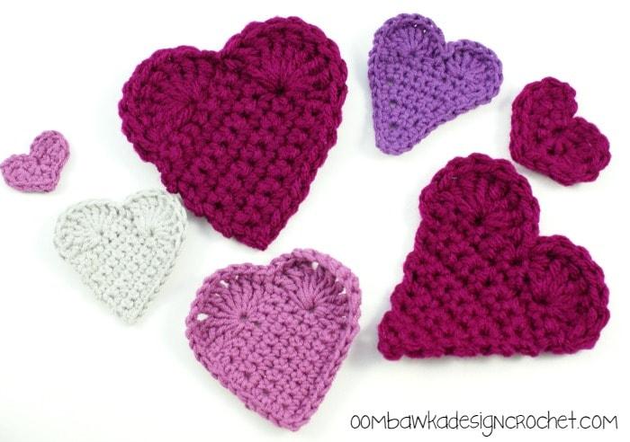 Hearts 3 Ways @OombawkaDesign