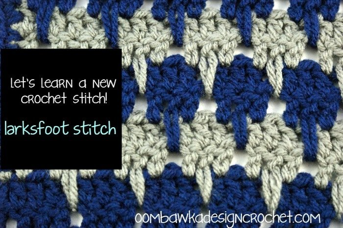 Crochet Afghan Patterns N Hook : Larksfoot Stitch Afghan Square Oombawka Design Crochet