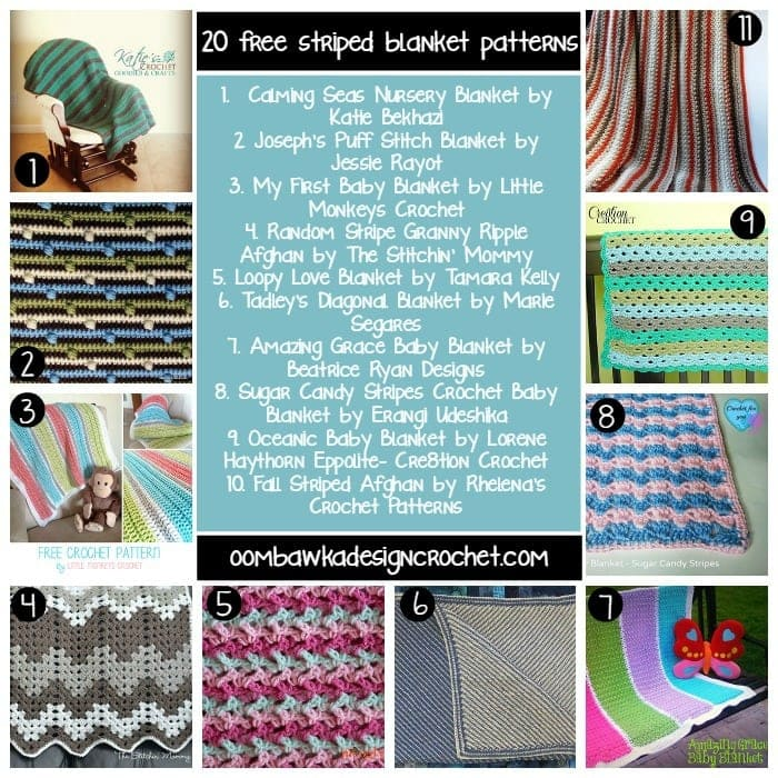 Striped Blanket Round Up @OombawkaDesign