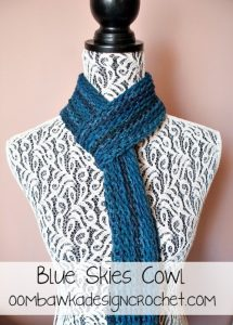 Blue Skies Cowl Pattern