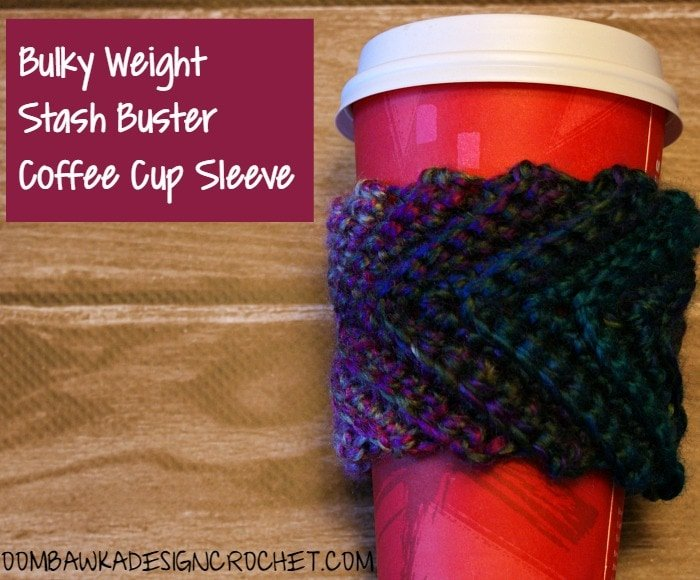 Stash Buster Cup Sleeve Pattern @OombawkaDesign