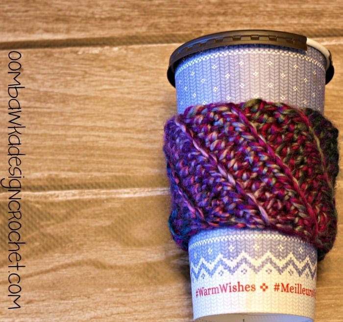 Stashbuster Crochet Sleeve Cozy @OombawkaDesign