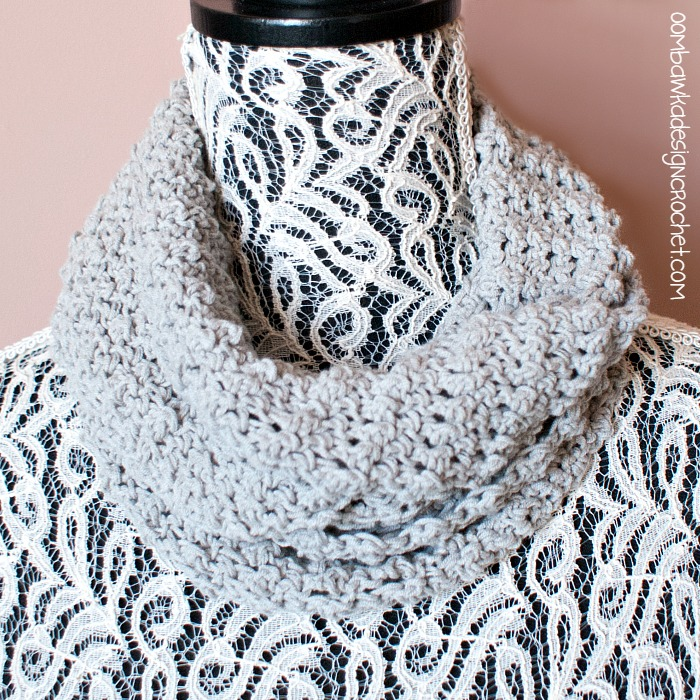 Soft As A Cloud One Skein Cowl Oombawka Design Crochet