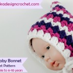 Free Pattern Fiona's Baby Bonnet @OombawkaDesign