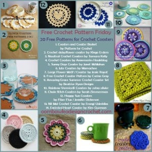 20 Free Patterns for Crochet Coasters