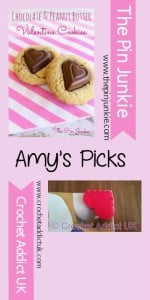 Featuring: Chocolate & Peanut Butter Valentine Cookies and Valentine Bookmarks.