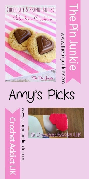 Amys Picks Chocolate Peanut Butter Valentine Cookies The Pin Junkie and Crochet Addict UK