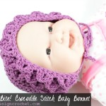 Crocodile Stitch Baby Bonnet @OombawkaDesign