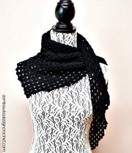 Dark Comfort Shawl Pattern