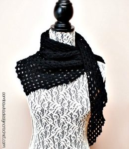Dark Comfort Shawl Pattern