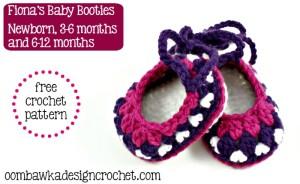 Free Pattern Baby Booties @OombawkaDesign
