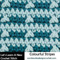 Colorful Stripes Tutorial. Oombawka Design Crochet.