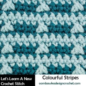 Colorful Stripes Tutorial. Oombawka Design Crochet.
