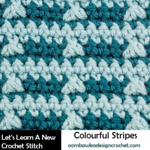 Colorful Stripes Crochet Stitch Tutorial