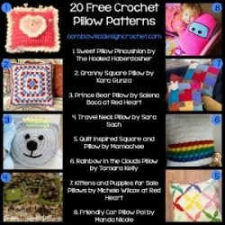 20 Free Pillow Patterns @OombawkaDesign