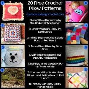 20 Free Pillow Patterns @OombawkaDesign