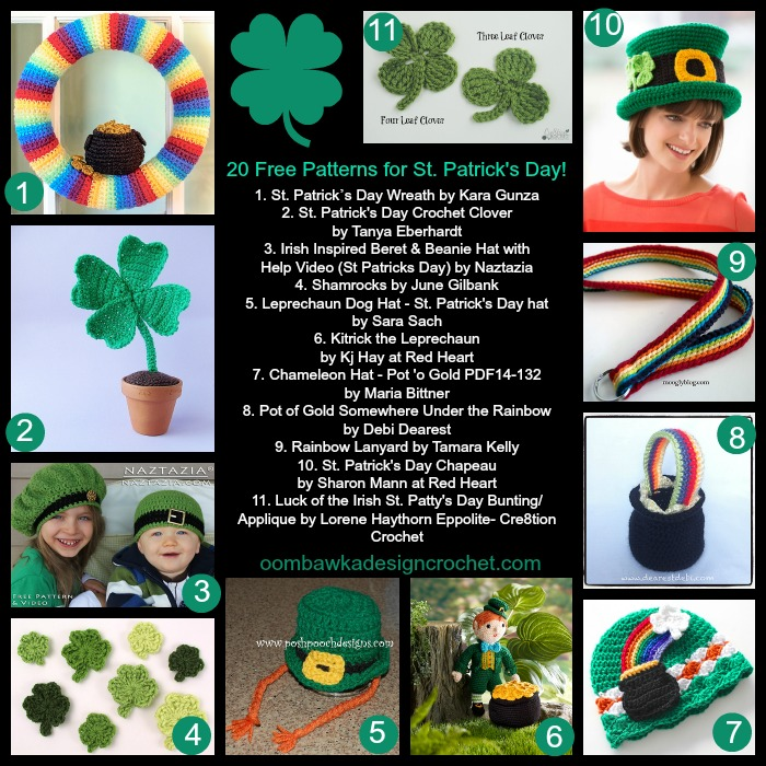 20 Free Patterns St Patricks Day @OombawkaDesign