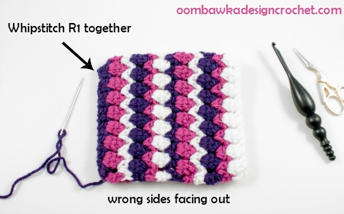 Whip Stitch the Seam @OombawkaDesign