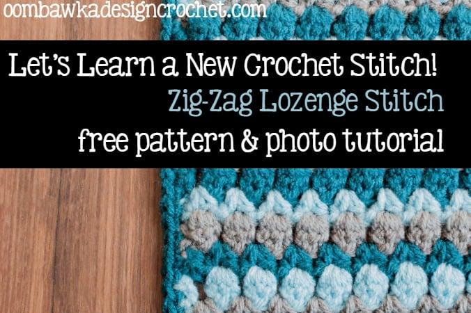 Zig Zag Lozenge Stitch @OombawkaDesign