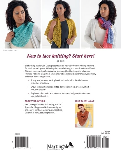 Back Cover Sock Yarn Shawls Review @OombawkaDesign