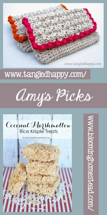 Amy's Picks DIY Anthropologie Inspired Summer Clutch {Free Crochet Pattern} - Tangled Happy and Coconut Rice Krispie Treats - B @OombawkaDesign