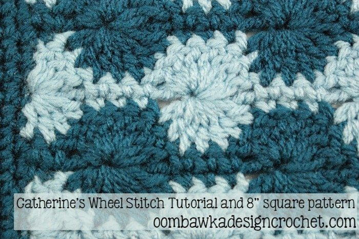 Catherine's Wheel Stitch Tutorial @OombawkaDesign