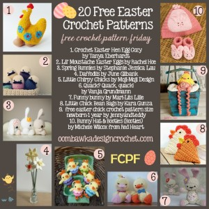 Easter Crochet Roundup 20 Free Patterns for Easter at Oombawka Design Crochet