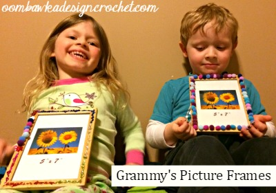 March Break Crafts - Grammy's Picture Frames @OombawkaDesign
