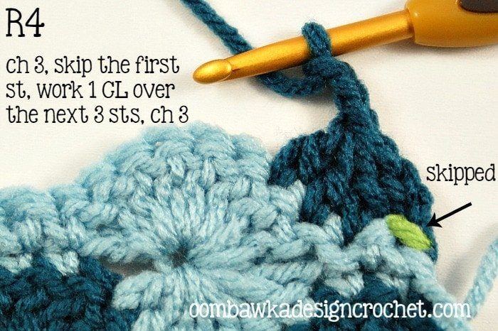 Catherine's Wheel Tutorial Row 4 @OombawkaDesign