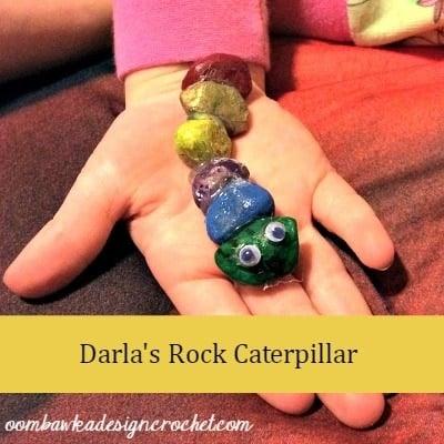 March Break Crafts - Darla's Rock Caterpillar @OombawkaDesign