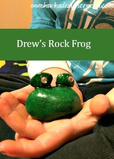 March Break Crafts - Drew's Rock Frog @OombawkaDesign