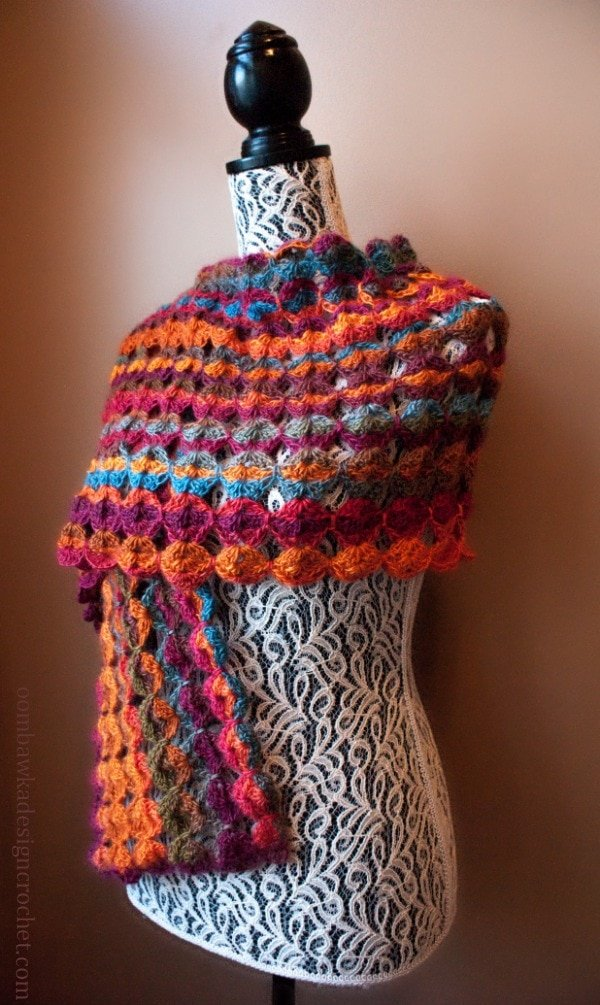 Painted Sunrise Summer Wrap @OombawkaDesign