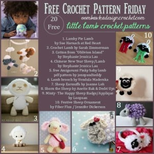 Little Lamb 20 free patterns for crochet sheep @OombawkaDesign