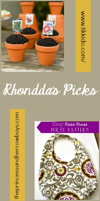 Rhondda's Picks |Easy Garden Cupcakes Tutorial/Easy Criss-Cross Purse Pattern | Tuesday PIN-spiration Link Party