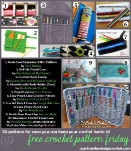20 patterns for crochet hook cases @OombawkaDesign