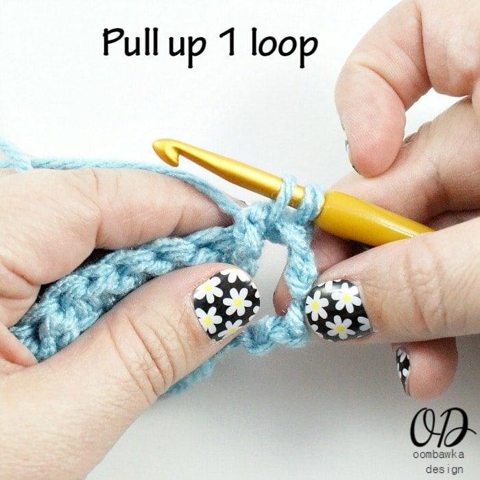Step 3 FPsc Pull Up the loop @OombawkaDesign