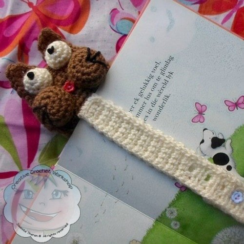 Guest Post | Creative Crochet Workshop | My Cat Bookmark @OombawkaDesign