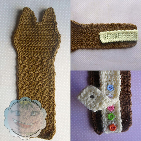 Cat Silhouette Bookmark Free Knitting Pattern | 600x600