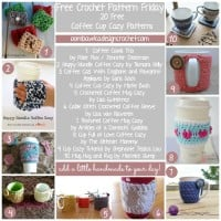 Coffee Cup Cozy Patterns @OombawkaDesign