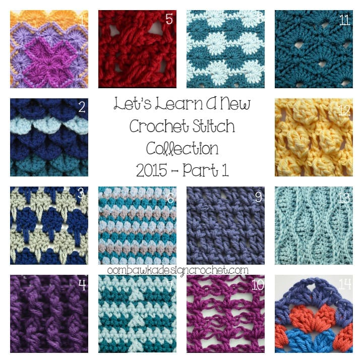 ... stitches included in the Let?s Learn A New Crochet Stitch Collection