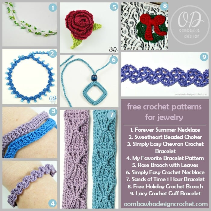 Blasts From The Past Free Crochet Patterns Jewelry Oombawka