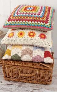 Large Granny Square Pillow | Boho Crochet Review @OombawkaDesign