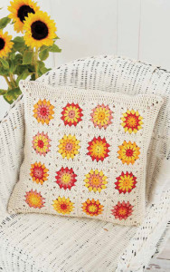Sunflower Motif Pillow | Boho Crochet Review @OombawkaDesign