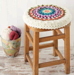 Mandala Stool Cover | Boho Crochet Review @OombawkaDesign