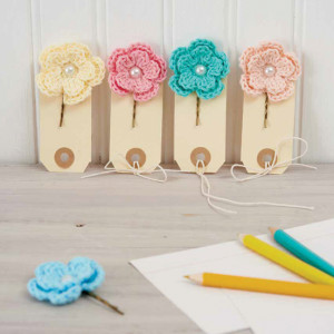 Floral Bobby Pins. Boho Crochet. Book Review.