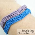 Free Pattern Simply Easy Chevron Bracelet @OombawkaDesign