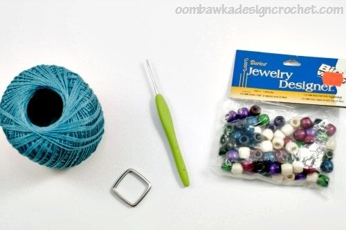 Supplies Simply Easy Crochet Necklace @OombawkaDesign
