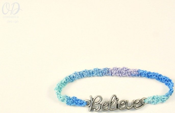 cover Believe Friendship Bracelet Free Pattern @Oombawkadesign